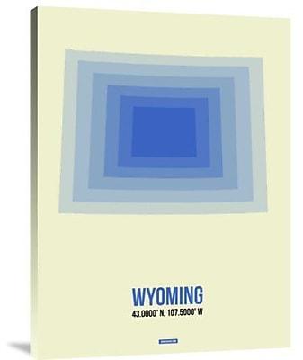 Naxart 'Wyoming Radiant Map 1' Graphic Art Print on Canvas; 40'' H x 30'' W x 1.5'' D