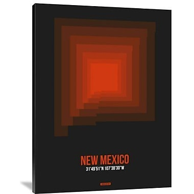 Naxart 'New Mexico Radiant Map 6' Graphic Art Print on Canvas; 32'' H x 24'' W x 1.5'' D