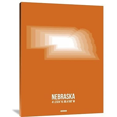 Naxart 'Nebraska Radiant Map 2' Graphic Art Print on Canvas; 24'' H x 18'' W x 1.5'' D