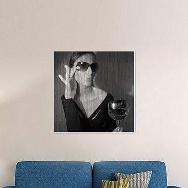 Naxart 'Loren w/ Wine' Photographic Print on Canvas; 18'' H x 18'' W x 1.5'' D