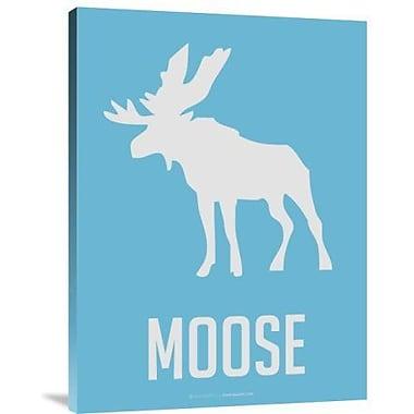 Naxart 'Moose Blue' Graphic Art Print on Canvas; 24'' H x 18'' W x 1.5'' D