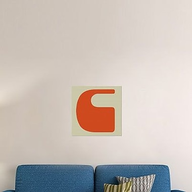 Naxart 'Letter C Orange' Graphic Art Print on Canvas; 24'' H x 24'' W x 1.5'' D