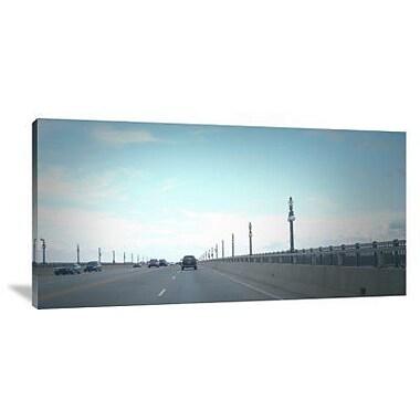 Naxart 'Detroit Bridge' Photographic Print on Canvas; 18'' H x 36'' W x 1.5'' D