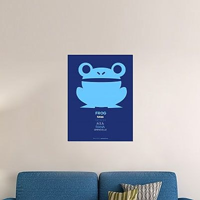 Naxart 'Blue Frog Multilingual' Graphic Art Print on Canvas; 40'' H x 30'' W x 1.5'' D