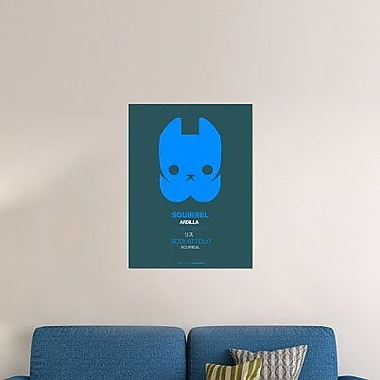 Naxart 'Blue Squirrel Multilingual' Graphic Art Print on Canvas; 24'' H x 18'' W x 1.5'' D