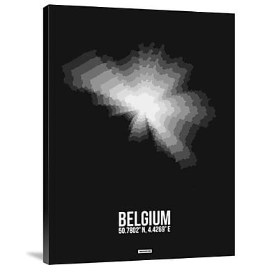 Naxart 'Belgium Radiant Map 3' Graphic Art Print on Canvas; 24'' H x 18'' W x 1.5'' D