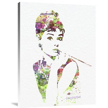 Naxart 'Audrey Hepburn 2' Graphic Art Print on Canvas; 16'' H x 12'' W x 1.5'' D