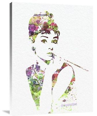 Naxart 'Audrey Hepburn 2' Graphic Art Print on Canvas; 40'' H x 30'' W x 1.5'' D