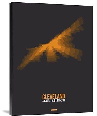 Naxart 'Cleveland Radiant Map 3' Graphic Art Print on Canvas; 24'' H x 18'' W x 1.5'' D
