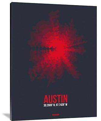 Naxart 'Austin Radiant Map 2' Graphic Art Print on Canvas; 24'' H x 18'' W x 1.5'' D