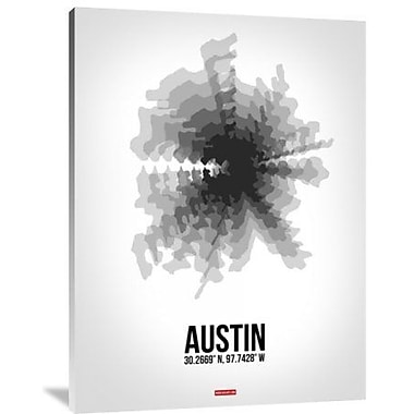 Naxart 'Austin Radiant Map 4' Graphic Art Print on Canvas; 32'' H x 24'' W x 1.5'' D