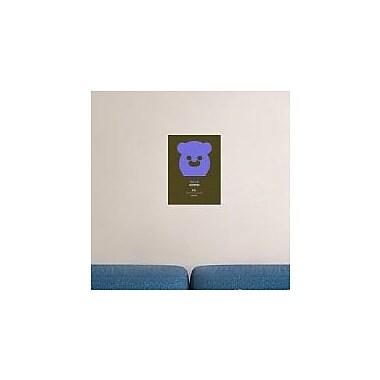 Naxart 'Purpple Bear Multilingual' Graphic Art Print on Canvas; 32'' H x 24'' W x 1.5'' D