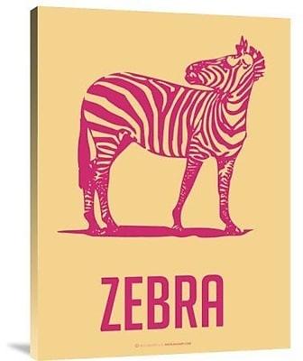 Naxart 'Zebra Red and Yellow' Graphic Art Print on Canvas; 24'' H x 18'' W x 1.5'' D