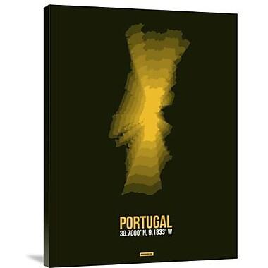 Naxart 'Portugal Radiant Map 3' Graphic Art Print on Canvas; 16'' H x 12'' W x 1.5'' D