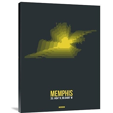 Naxart 'Memphis Radiant Map 1' Graphic Art Print on Canvas; 32'' H x 24'' W x 1.5'' D