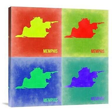 Naxart 'Memphis Pop Art Map 2' Graphic Art Print on Canvas; 18'' H x 18'' W x 1.5'' D