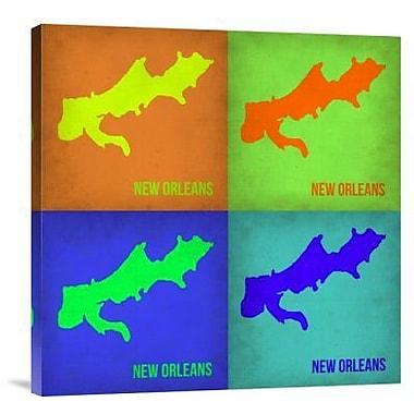 Naxart 'New Orleans Pop Art Map 1' Graphic Art Print on Canvas; 18'' H x 18'' W x 1.5'' D