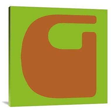 Naxart 'Letter G Orange' Graphic Art Print on Canvas; 24'' H x 24'' W x 1.5'' D