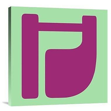 Naxart 'Letter H Purple' Graphic Art Print on Canvas; 18'' H x 18'' W x 1.5'' D
