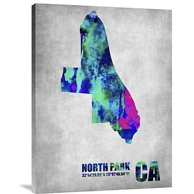 Naxart 'North Park California' Graphic Art Print on Canvas; 24'' H x 18'' W x 1.5'' D