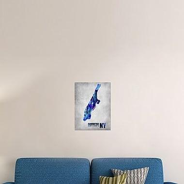 Naxart 'Manhattan New York' Graphic Art Print on Canvas; 24'' H x 18'' W x 1.5'' D