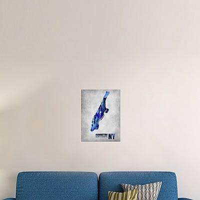 Naxart 'Manhattan New York' Graphic Art Print on Canvas; 32'' H x 24'' W x 1.5'' D