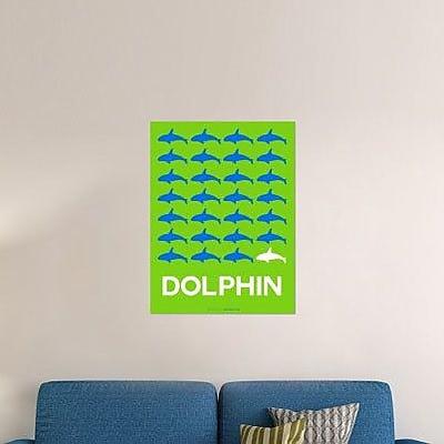 Naxart 'Dolphin' Graphic Art Print on Canvas; 24'' H x 18'' W x 1.5'' D