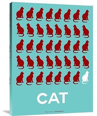 Naxart 'Cat' Graphic Art Print on Canvas; 40'' H x 30'' W x 1.5'' D