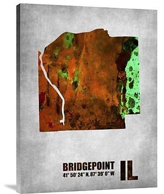 Naxart 'Bridgepoint Illinois' Graphic Art Print on Canvas; 40'' H x 30'' W x 1.5'' D