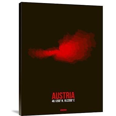 Naxart 'Austria Radiant Map 1' Graphic Art Print on Canvas; 32'' H x 24'' W x 1.5'' D
