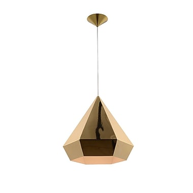 Brayden Studio Idlewild 1-Light Foyer Pendant; Gold