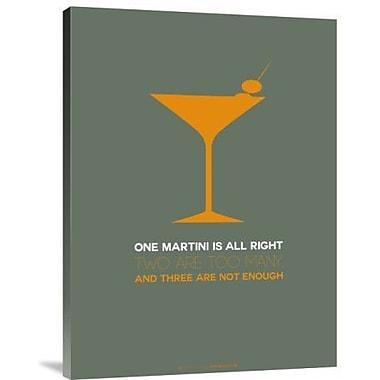 Naxart 'Martini Yellow' Graphic Art Print on Canvas; 24'' H x 18'' W x 1.5'' D