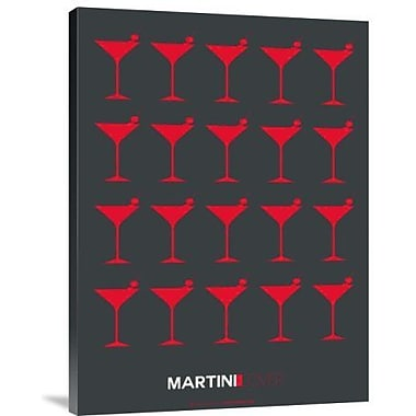 Naxart 'Martini Lover Red' Graphic Art Print on Canvas; 16'' H x 12'' W x 1.5'' D