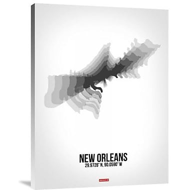 Naxart 'New Orleans Radiant Map 4' Graphic Art Print on Canvas; 24'' H x 18'' W x 1.5'' D