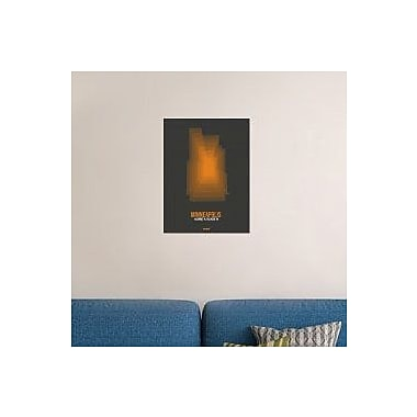 Naxart 'Minneapolis Radiant Map 3' Graphic Art Print on Canvas; 40'' H x 30'' W x 1.5'' D