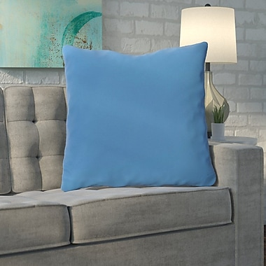 Brayden Studio Merauke Solid Decorative Throw Pillow; Sky Blue