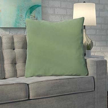 Brayden Studio Merauke Solid Decorative Throw Pillow; Green