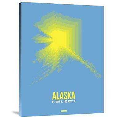 Naxart 'Alaska Radiant Map 2' Graphic Art Print on Canvas; 32'' H x 24'' W x 1.5'' D