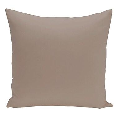 Brayden Studio Merauke Solid Decorative Throw Pillow; Flax