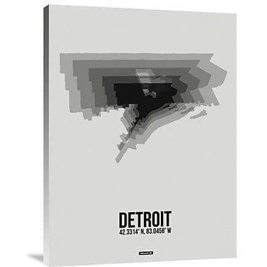Naxart 'Detroit Radiant Map 5' Graphic Art Print on Canvas; 24'' H x 18'' W x 1.5'' D