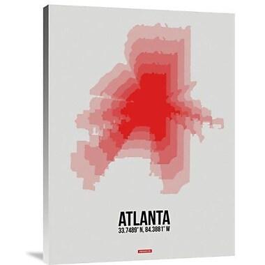 Naxart 'Atlanta Radiant Map 1' Graphic Art Print on Canvas; 16'' H x 12'' W x 1.5'' D