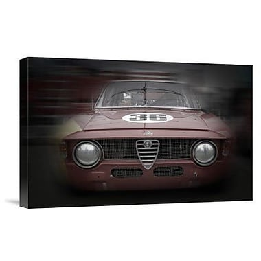 Naxart 'Alfa Romeo GTV Laguna Seca' Photographic Print on Canvas; 16'' H x 24'' W x 1.5'' D