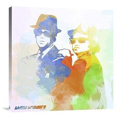 Naxart 'Blues Brothers' Graphic Art Print on Canvas; 24'' H x 24'' W x 1.5'' D