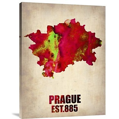 Naxart 'Prague Watercolor' Graphic Art Print on Canvas; 16'' H x 12'' W x 1.5'' D