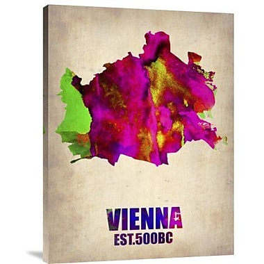 Naxart 'Vienna Watercolor' Graphic Art Print on Canvas; 40'' H x 30'' W x 1.5'' D