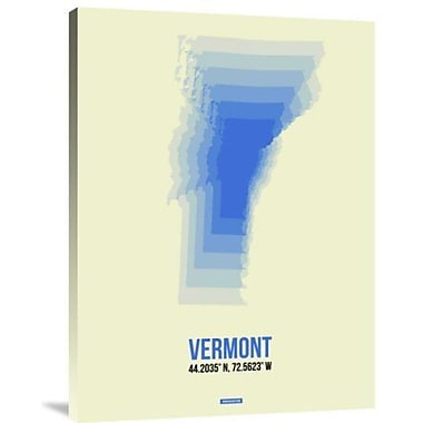 Naxart 'Vermont Radiant Map 1' Graphic Art Print on Canvas; 16'' H x 12'' W x 1.5'' D