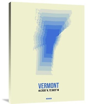 Naxart 'Vermont Radiant Map 1' Graphic Art Print on Canvas; 32'' H x 24'' W x 1.5'' D