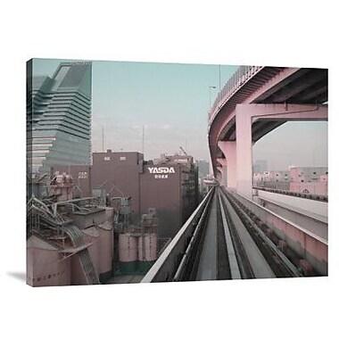 Naxart 'Tokyo Train Ride 5' Photographic Print on Canvas; 30'' H x 40'' W x 1.5'' D