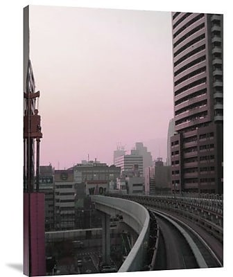 Naxart 'Tokyo Train Ride 6' Photographic Print on Canvas; 16'' H x 12'' W x 1.5'' D