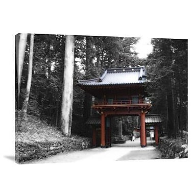 Naxart 'Red Gate' Photographic Print on Canvas; 12'' H x 16'' W x 1.5'' D